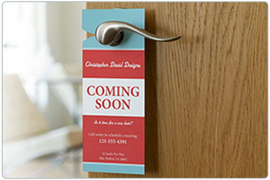 Distributie door hanger